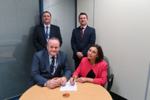 Signing contracts on a new project with MAN Commercial Protection