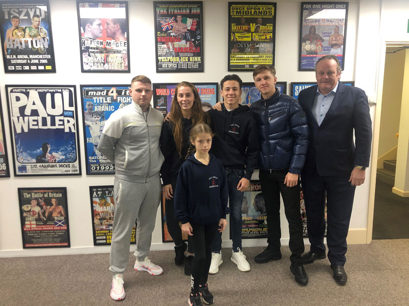 MAN Commercial CEO Iain McCallister with Hall Green Boxing Club